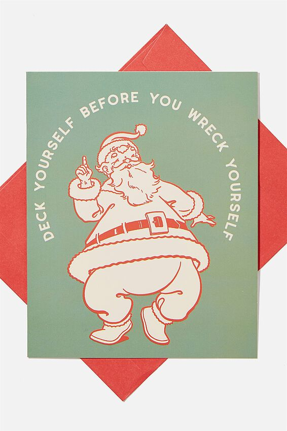 Christmas Card 2020, DECK YOURSELF BEFORE YOU WRECK YOURSELF!