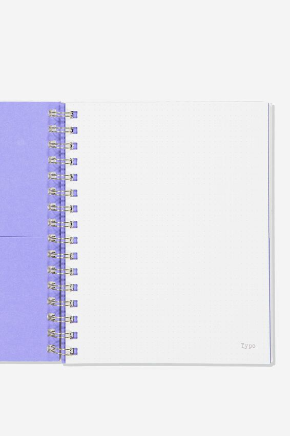A5 Campus Notebook Dot Internal Recycled, PURPLE LACE