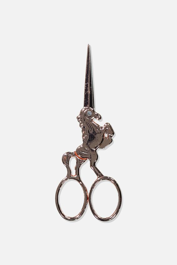 Metal Scissors, ROSE GOLD UNICORN