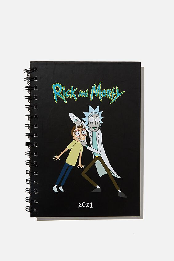 2021 A6 Rick & Morty Spiral Diary, LCN RICK & MORTY CNW RM