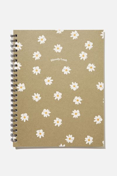 A4 Campus Notebook Recycled, RG UK KHAKI DAISY