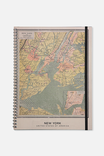 NEW YORK VINTAGE MAP