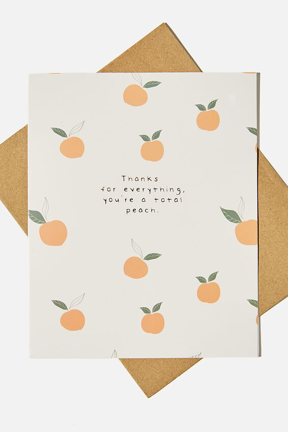 Thank You Card, YOURE A TOTAL PEACH