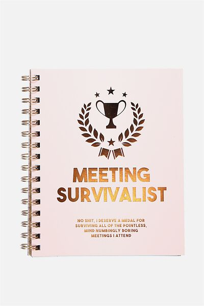A5 Campus Notebook - 240 Pages, MEETING SURVIVALIST!