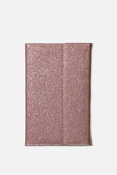 Undated Luxury Planner, ROSE GOLD GLITTER