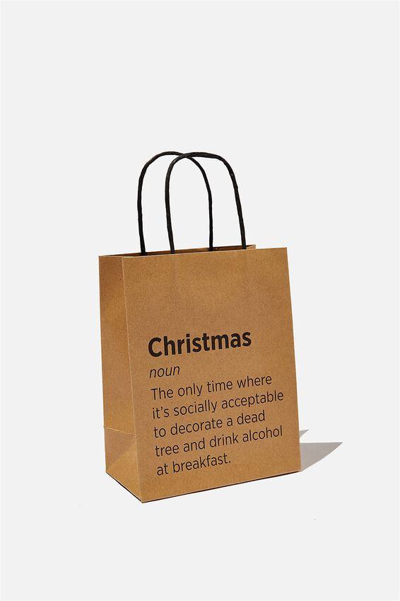 Get Stuffed Gift Bag - Small, CHRISTMAS NOUN