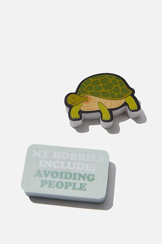 Novelty Eraser Pack, TURTLE AND HOBBIES