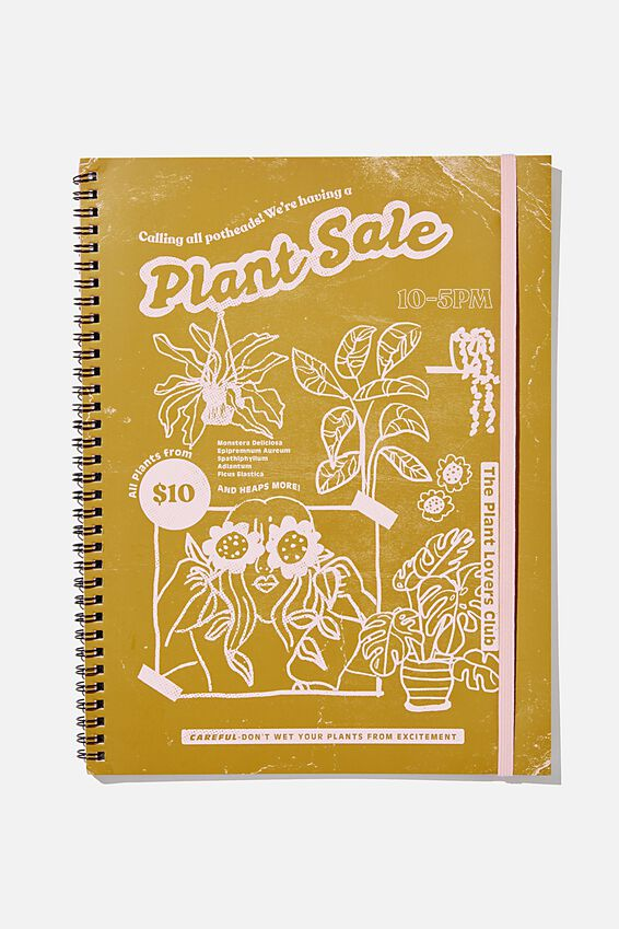 A4 Spinout Notebook Recycled, PLANT SALE