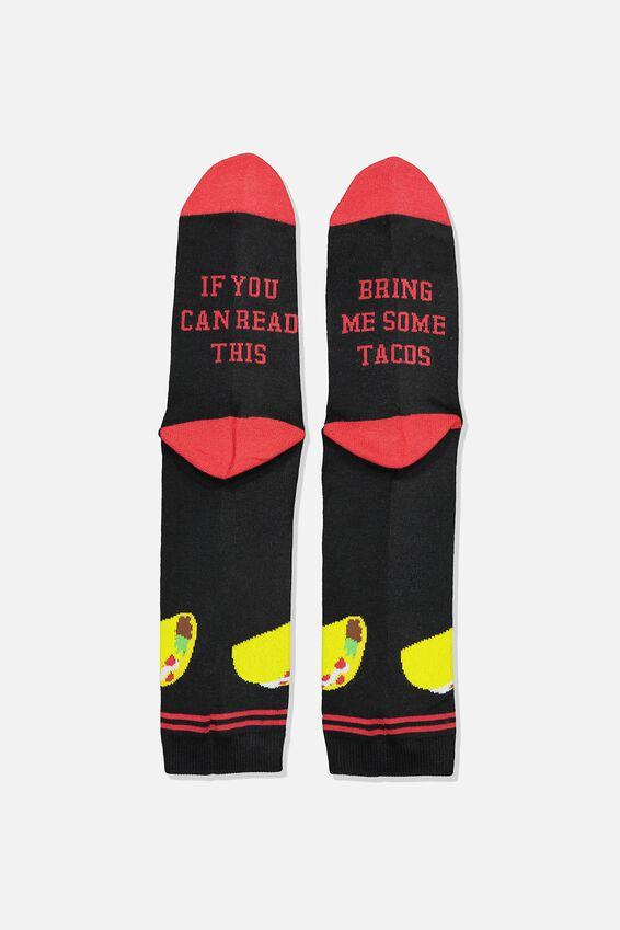 Mens Novelty Socks, TACOS