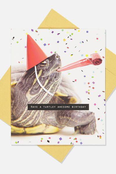 Nice Birthday Card, TURTELY AWESOME