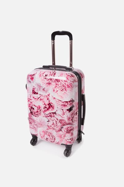 Carry On Suitcase, PINK FLORAL