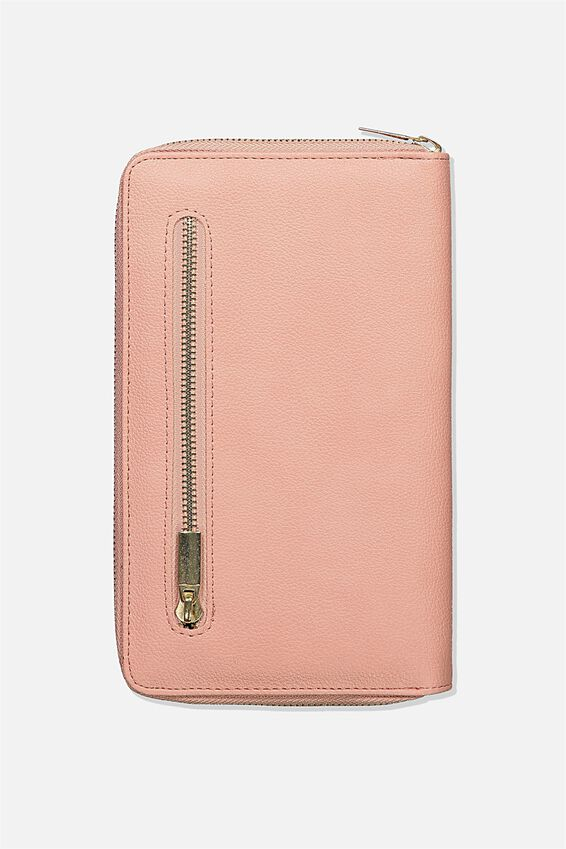 Rfid Odyssey Travel Compendium Wallet, DUSTY ROSE CIAO