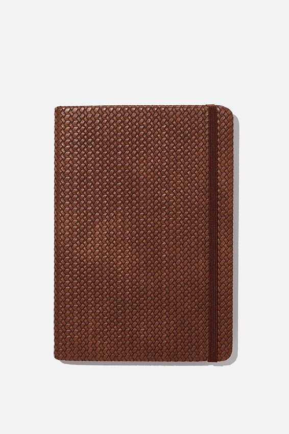 A5 Dot Buffalo Journal, BROWN BASKET WEAVE