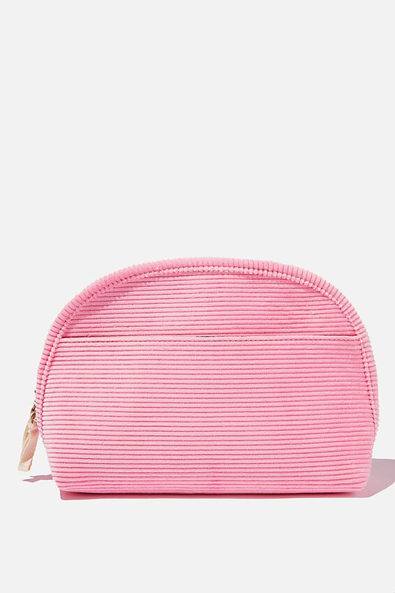 Corduroy Essential Pouch, PLASTIC PINK