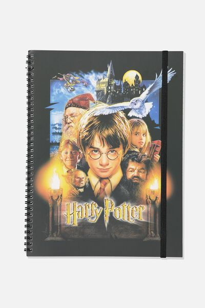 A4 Spinout Notebook - 120 Pages, LCN WB HP PHILOSOPHERS STONE COVER
