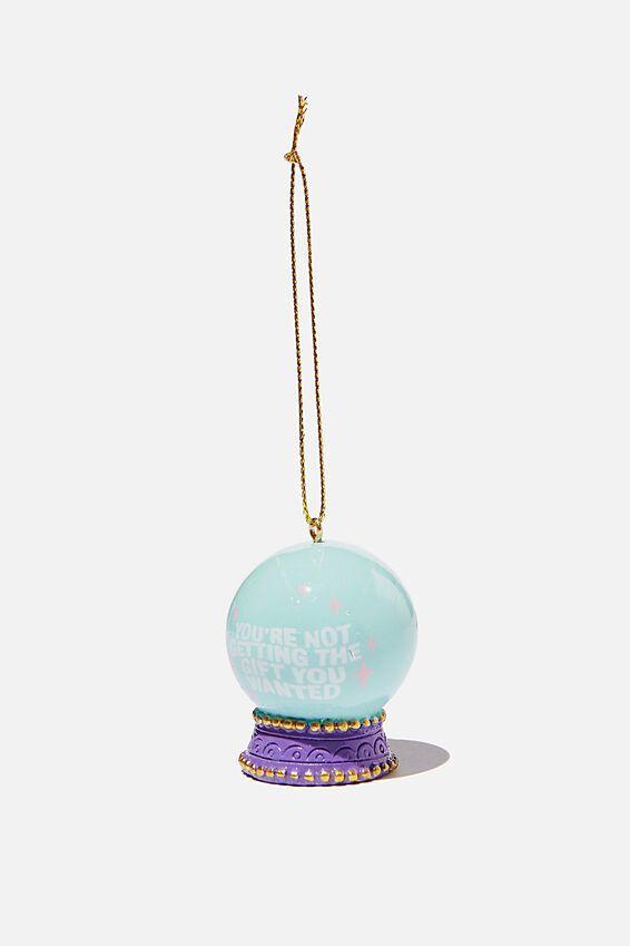 Resin Christmas Ornament, CRYSTAL BALL