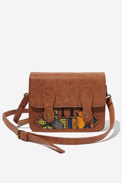 Mini Buffalo Satchel Bag, LCN WB HPO HOGWARTS CREST