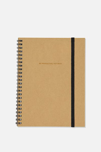 A5 Spinout Notebook Recycled, BE PRODUCTIVE CRAFT