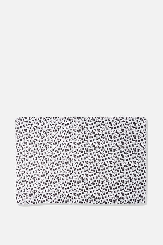 A2 Jumbo Mouse Pad, BLACK & WHITE DAISY