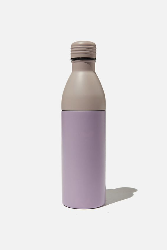 Two Piece Metal Drink Bottle, PETUNIA AND HEATHER