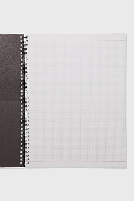 A4 Spinout Notebook Grid Page, WEEKEND PUG