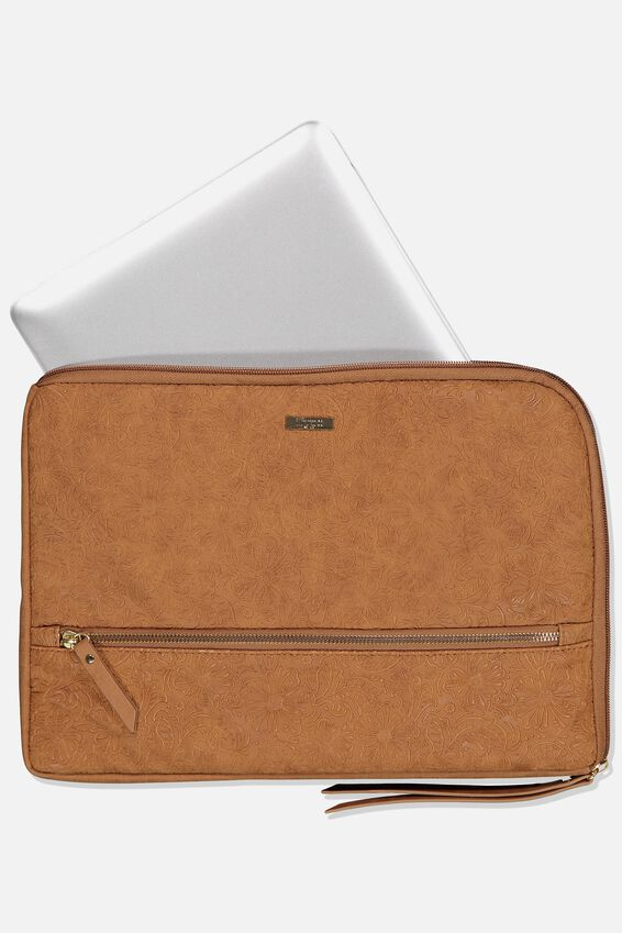 Premium Laptop Case 13 inch, MID TAN FLORAL