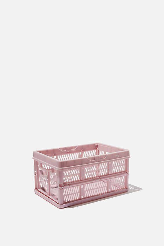 Small Foldable Storage Crate, HEATHER