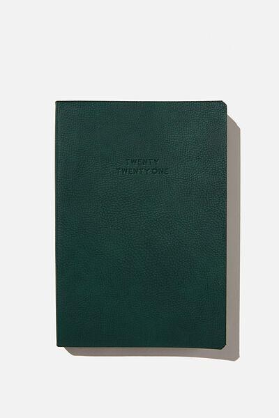 2021 Soft A5 Daily Buffalo Diary, DEEP GREEN