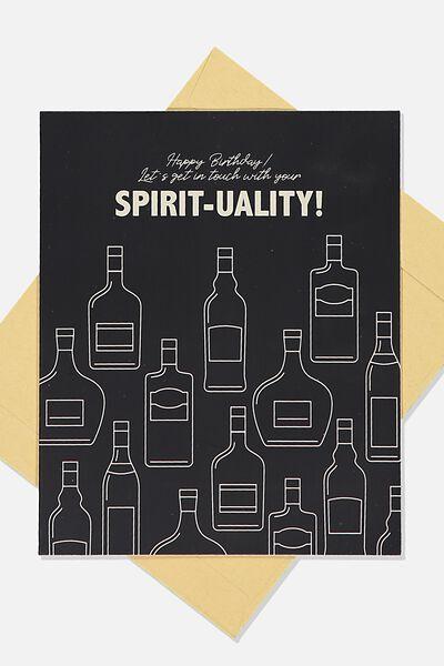 Funny Birthday Card, SPIRIT TUALITY