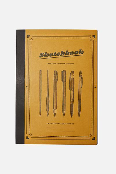 A4 Sketch Mate Book, YELLOW SKETCHBOOK