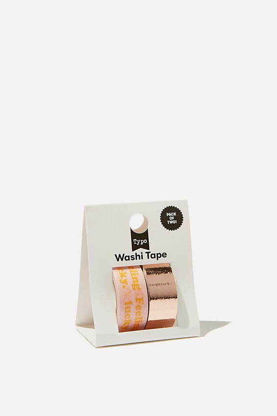 Washi Tape 2Pk, FEELING LUCKY