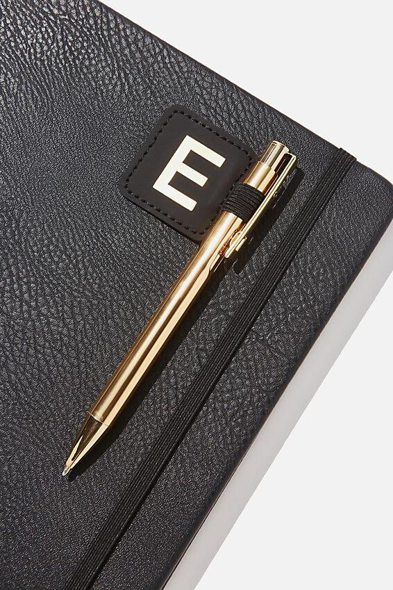 Pen Loop Sticker, BLACK E