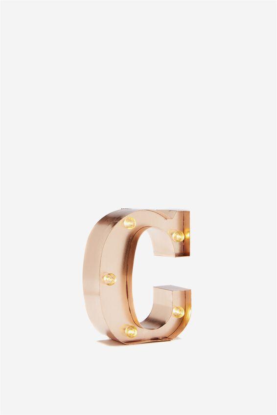 Mini Marquee Letter Lights 10cm, ROSE GOLD C
