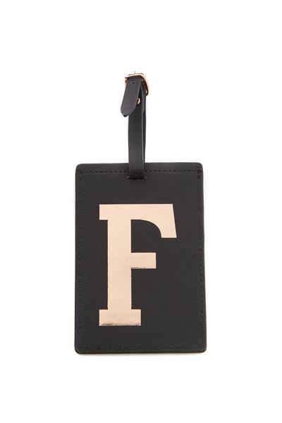 Alphabet Luggage Tag, F