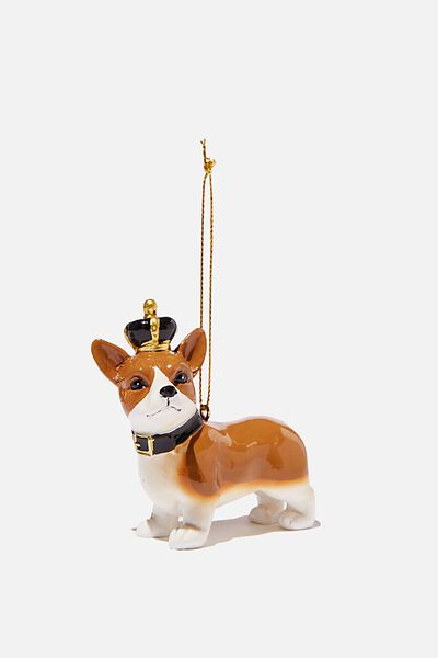 Resin Christmas Ornament, CORGI CROWN
