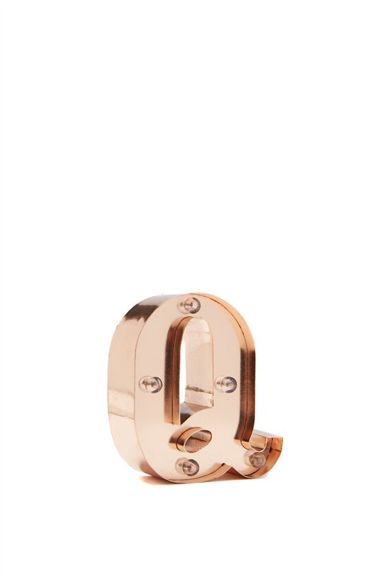Mini Marquee Letter Lights 10cm, ROSE GOLD Q