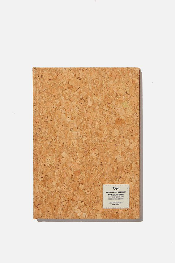 A5 Sketch Notebook, NATURAL CORK