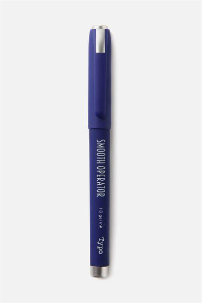Smooth Operator Gel Pen, BLUE