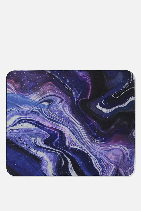 Neoprene Mouse Pad, MOON MARBLE