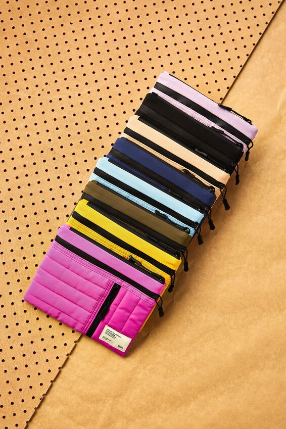 Utility Pencil Case, MAGENTA AND PLASTIC PINK