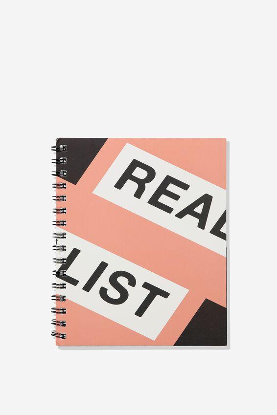 A5 Campus Notebook Grid Internal, RESLIST PINK