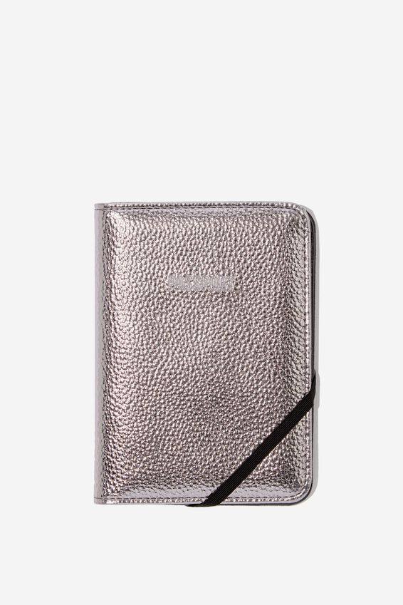 Rfid Passport Holder, GUNMETAL