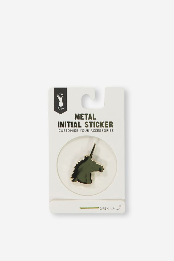 Metal Stickers, GOLD UNICORN