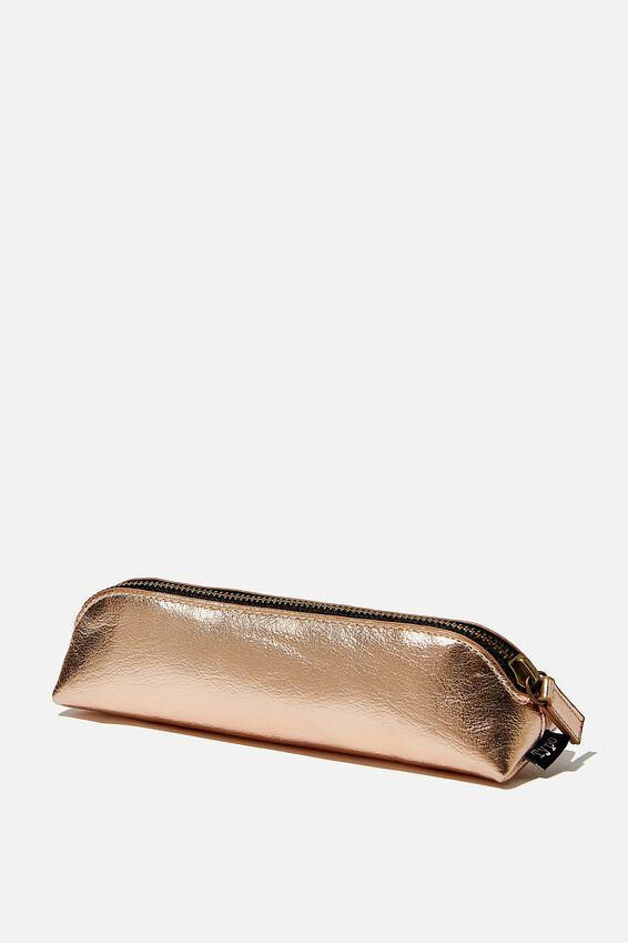 Buffalo Barrel Pencil Case, ROSE GOLD