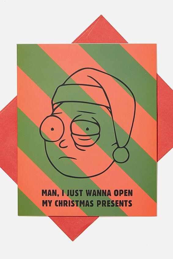 Rick & Morty Christmas Card 2020, LCN CNW CHRISTMAS RICK CARD