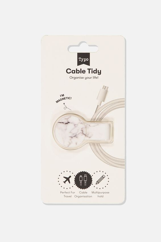 Cable Tidy, WHITE MARBLE