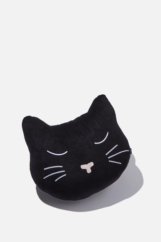 Get Cushy Cushion, VELVET CAT HEAD