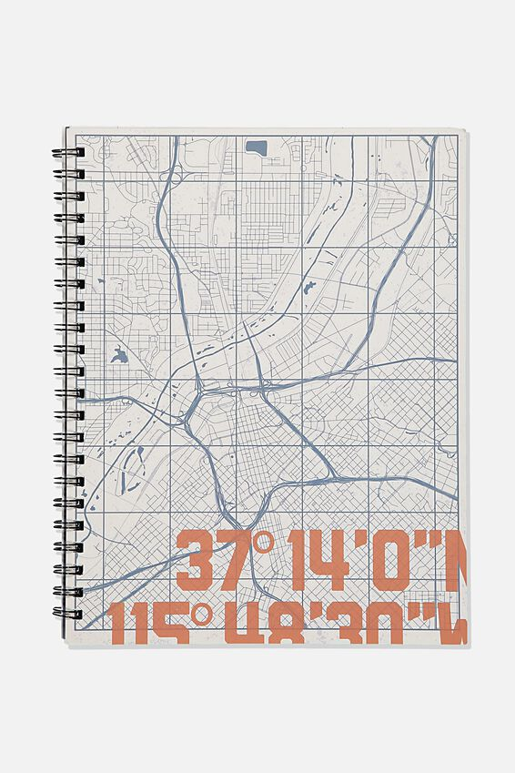 A4 Campus Notebook Recycled, CO-ORD MAP