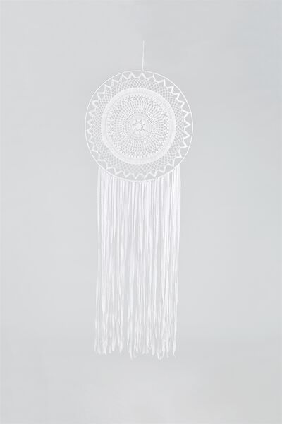 Large Dream Catcher, WHITE LACE