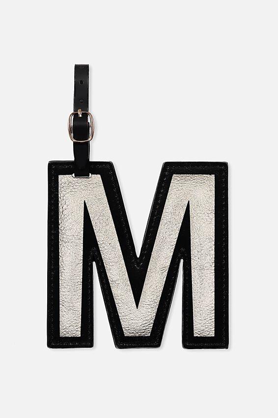 Shaped Alpha Bag Tag, M